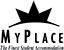 My Place black logo