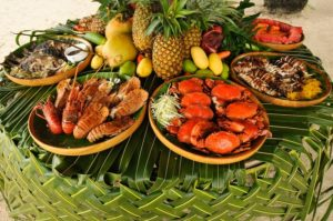 sea foods and fruits